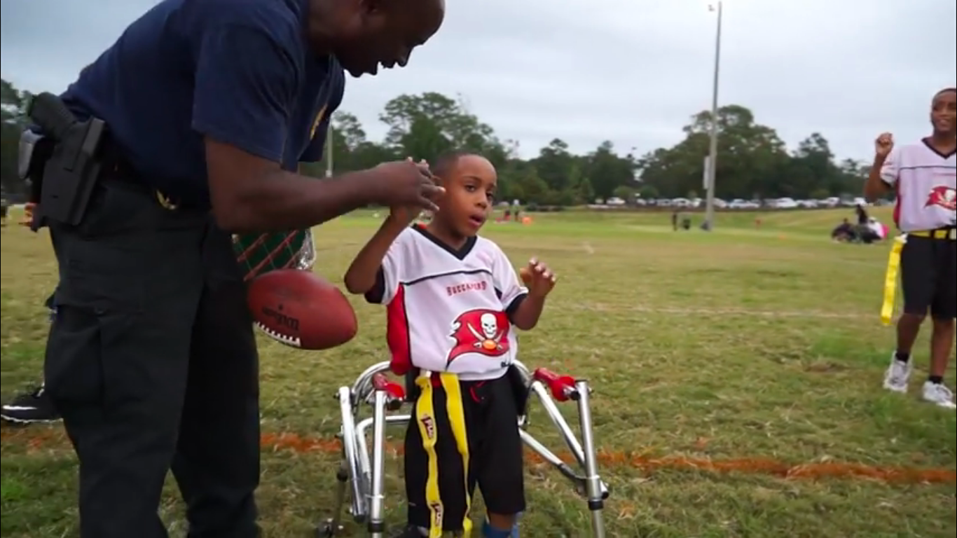 Watch a Seven-Year-Old Boy With Cerebral Palsy Score a Touchdown for his Team