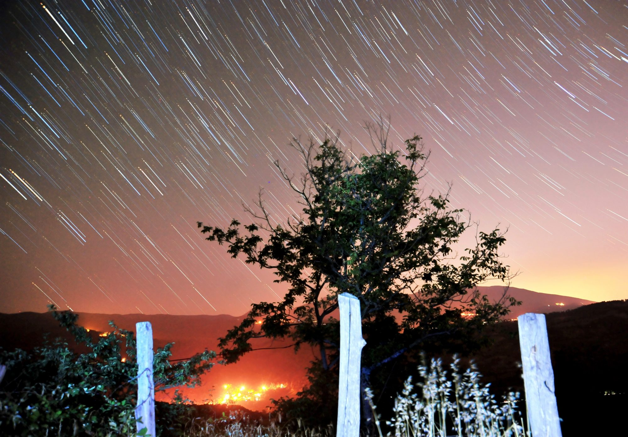 Perseid meteor shower in Turkey's Bursa