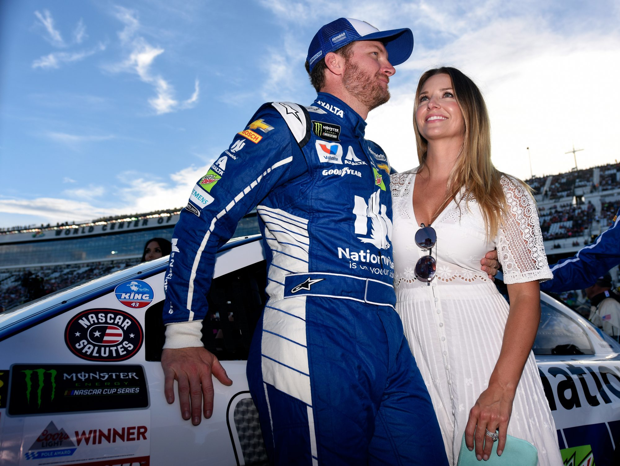 Dale Earnhardt Jr. Kisses Wife Amy