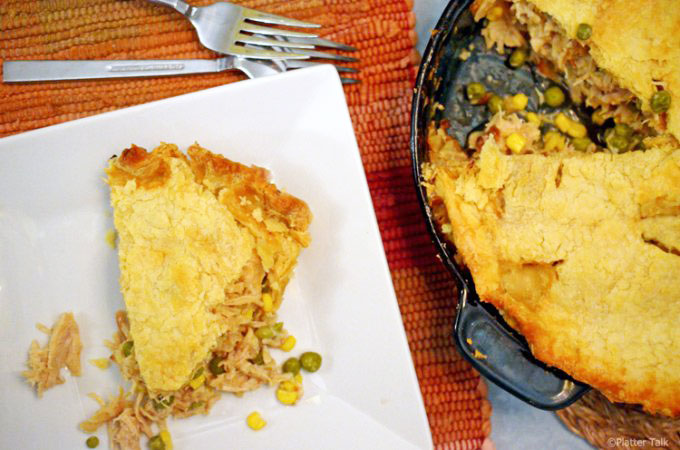 Turkey Pot Pie with Homemade Crust