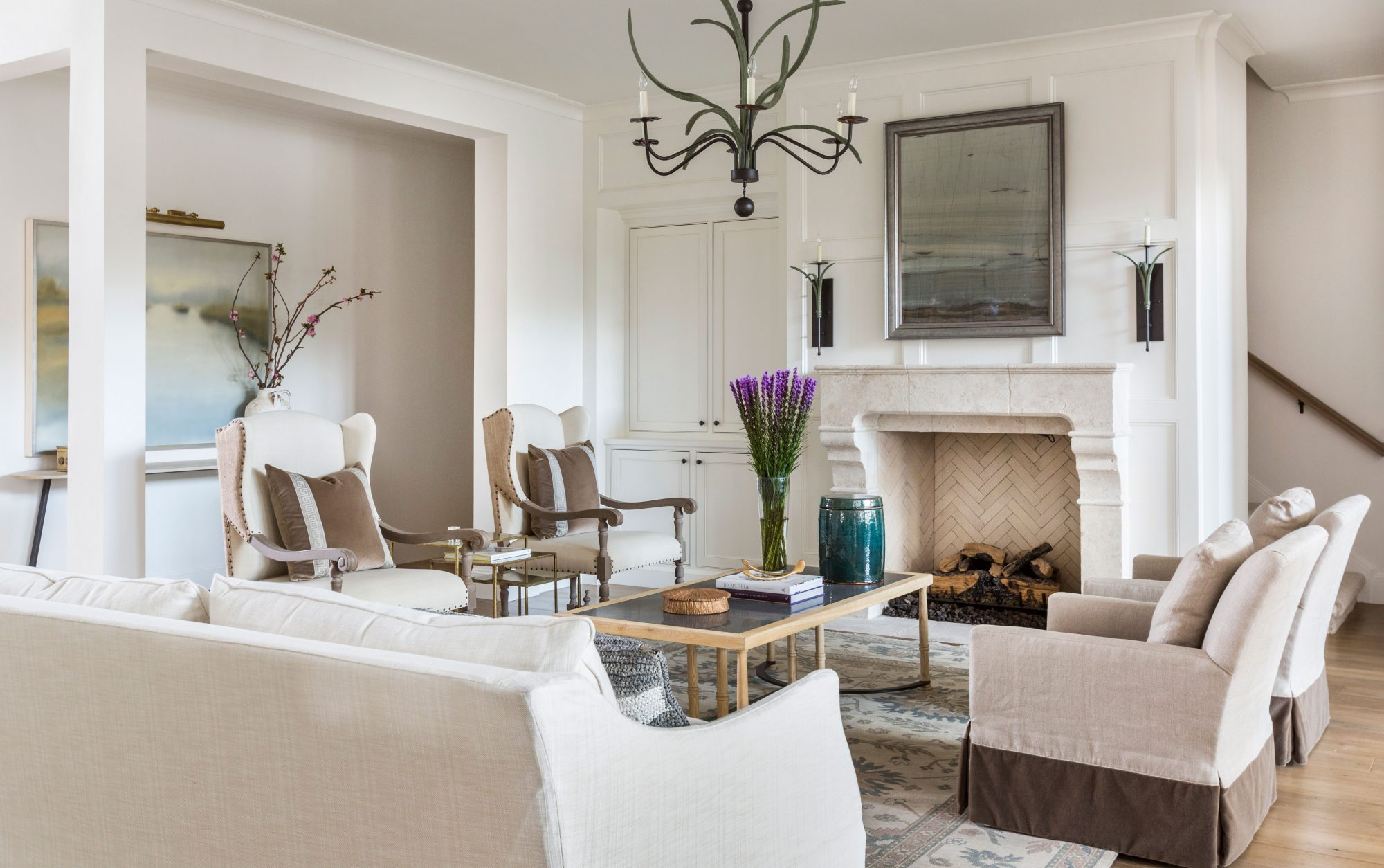 After: Textured Neutrals & Plenty Of Seating