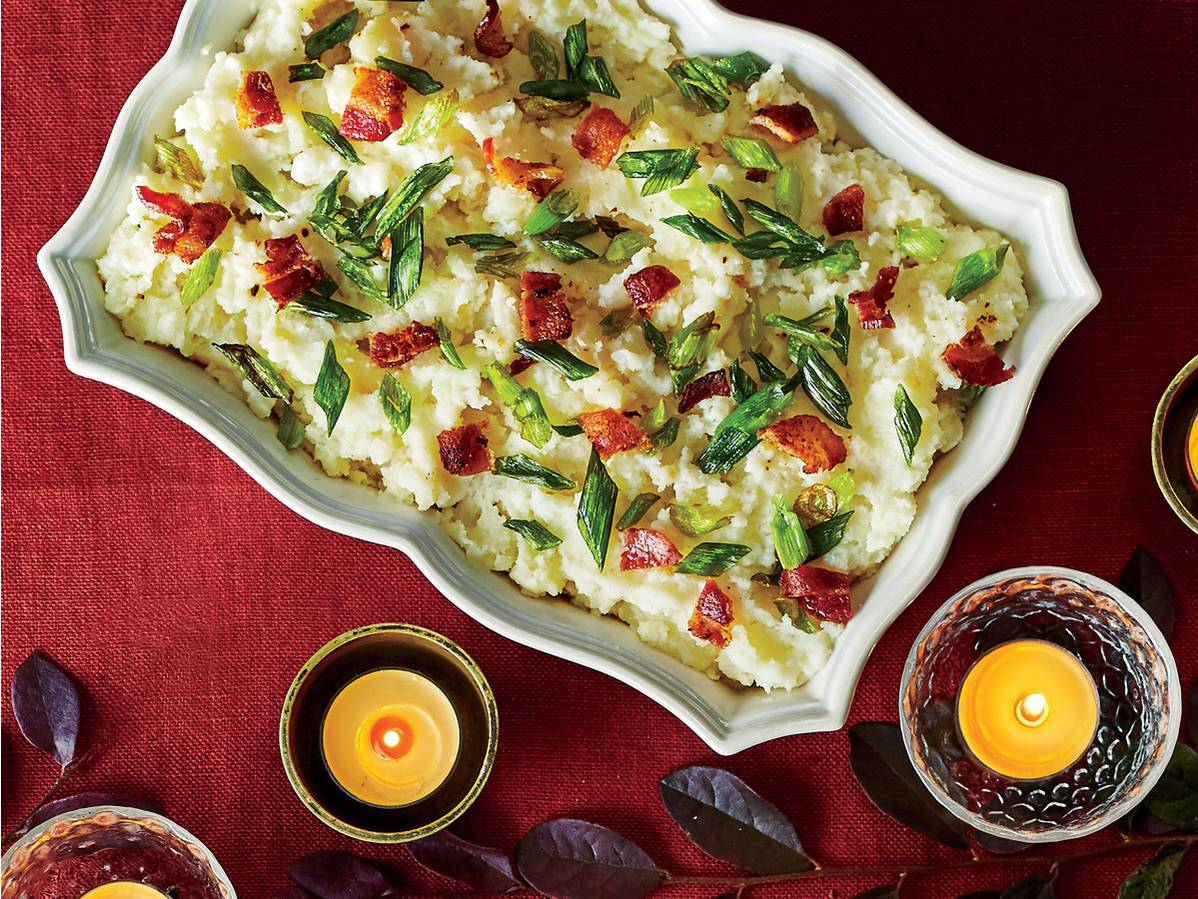 Mashed Potatoes with Bacon and Crispy Scallions