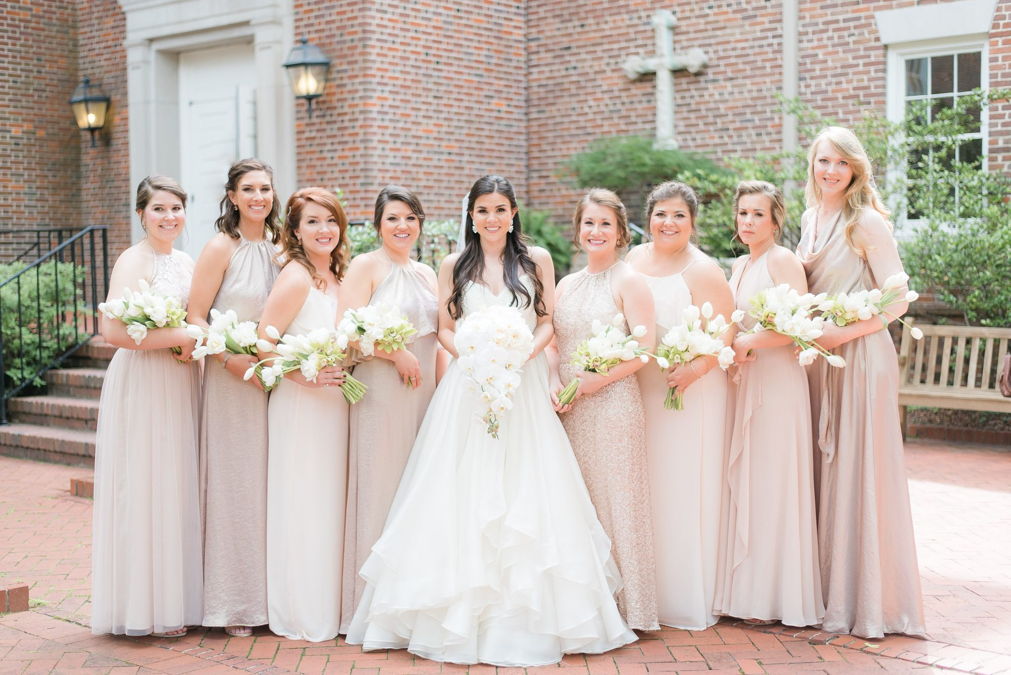 Mix and Match Bridesmaid Neutral Dresses