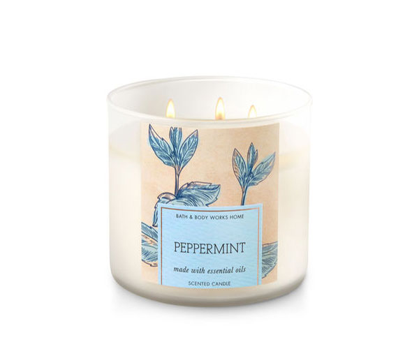 Peppermint Bath & Body Works Candle