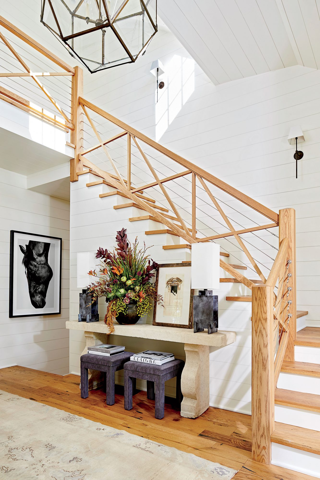 Shiplap Walls in White Entry