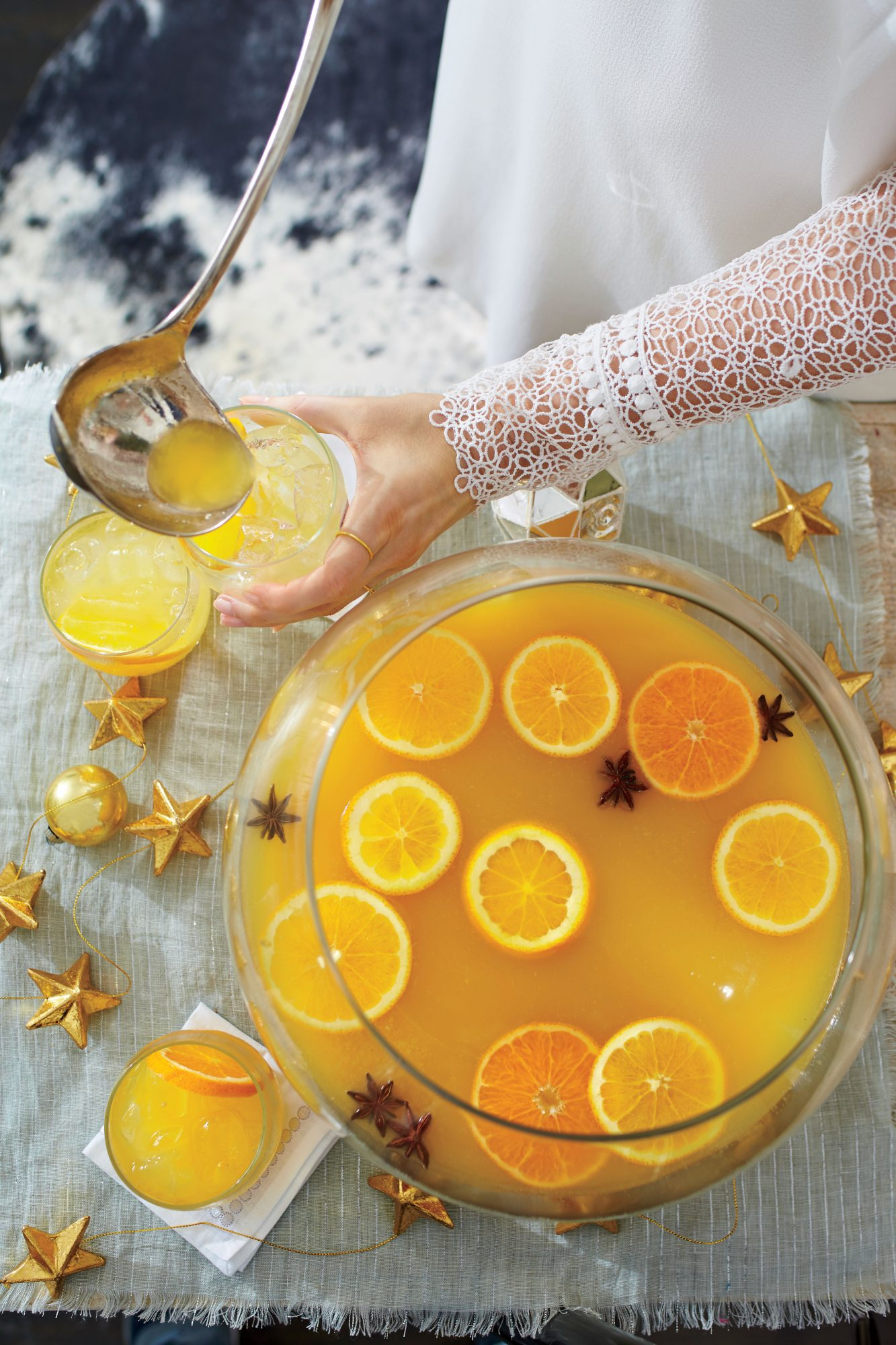 Spiced Orange-Bourbon Punch