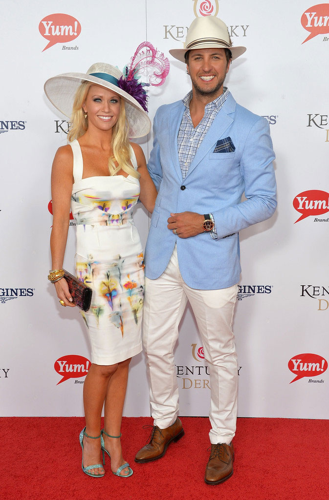 Luke Bryan at the Kentucky Derby