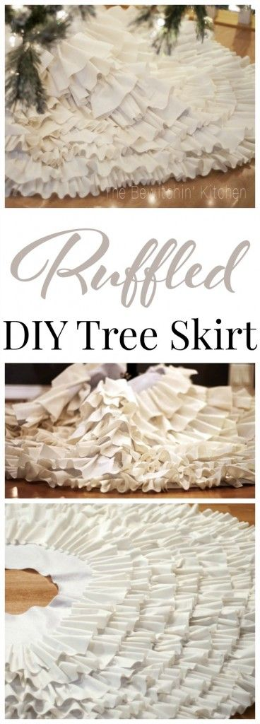White Ruffled DIY Tree Skirt