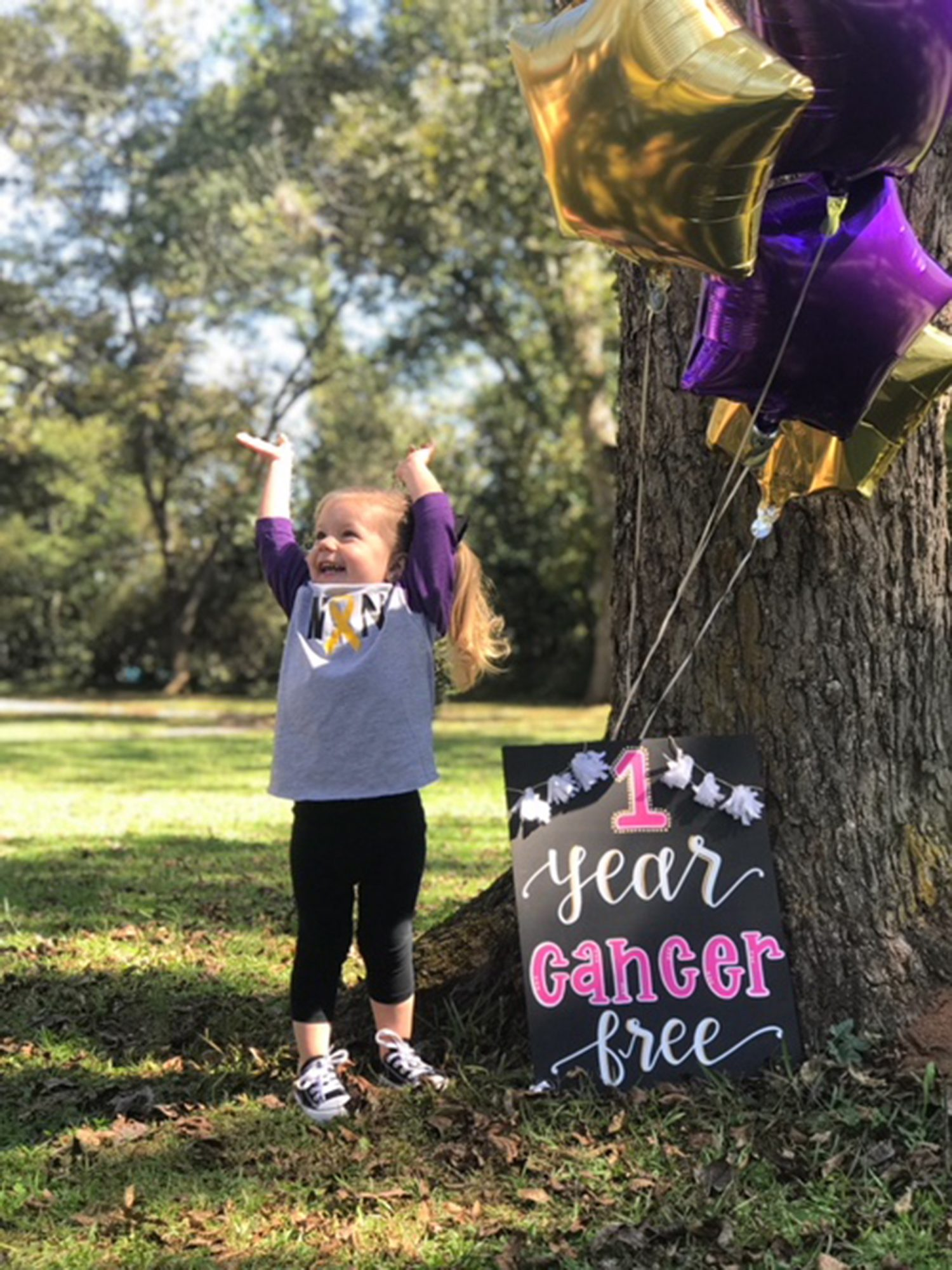 3-Year-Old Girl Celebrates a Year Being Cancer Free in Heartwarming Photos