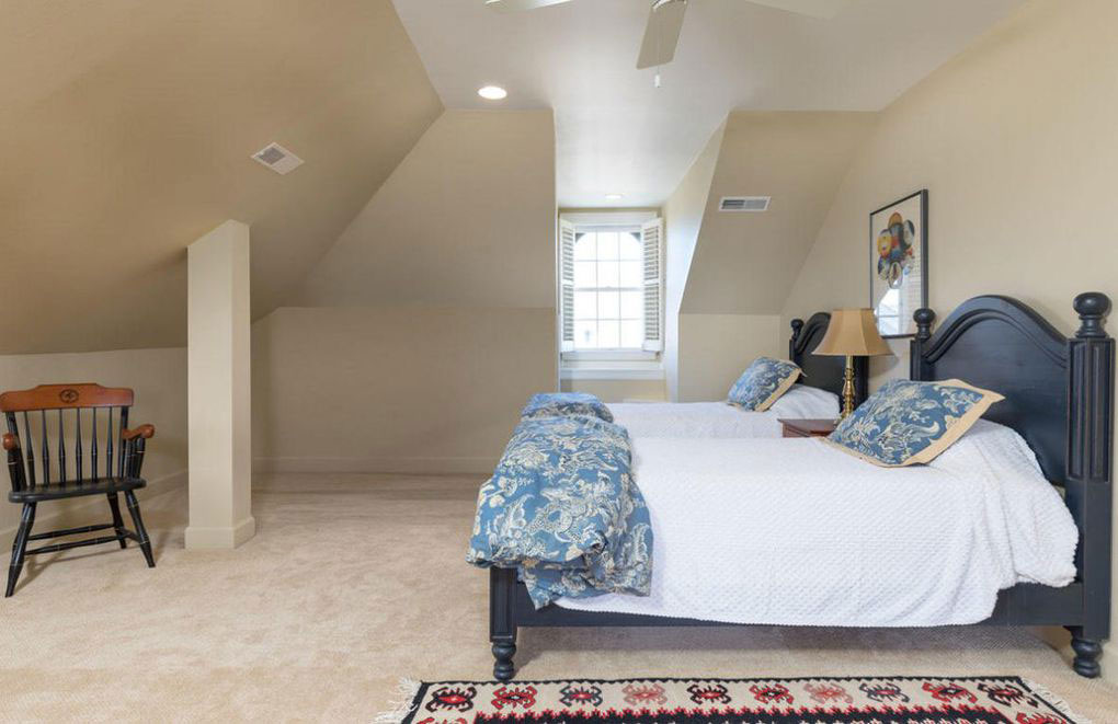 Colonial Brick Home Charleston Third-Floor Bedroom