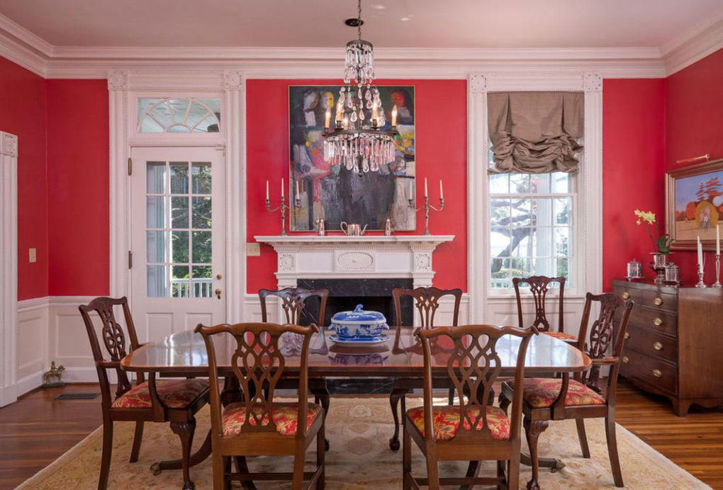 Colonial Brick Home Charleston Dining Room