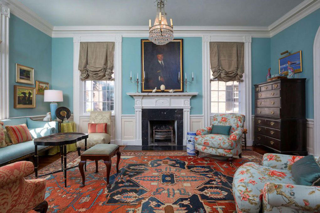 Colonial Brick Home Charleston Living Room