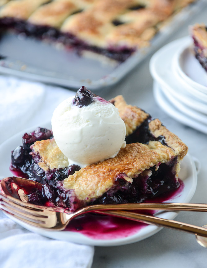 Cinnamon Blueberry Slab Pie