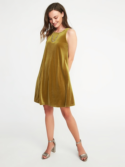 Old Navy Velvet Swing Dress