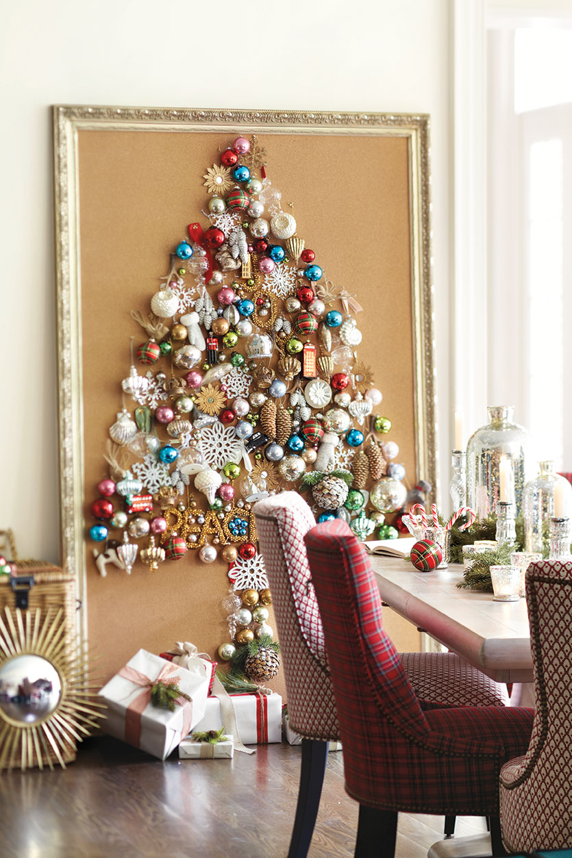 Corkboard Ornament Christmas Tree