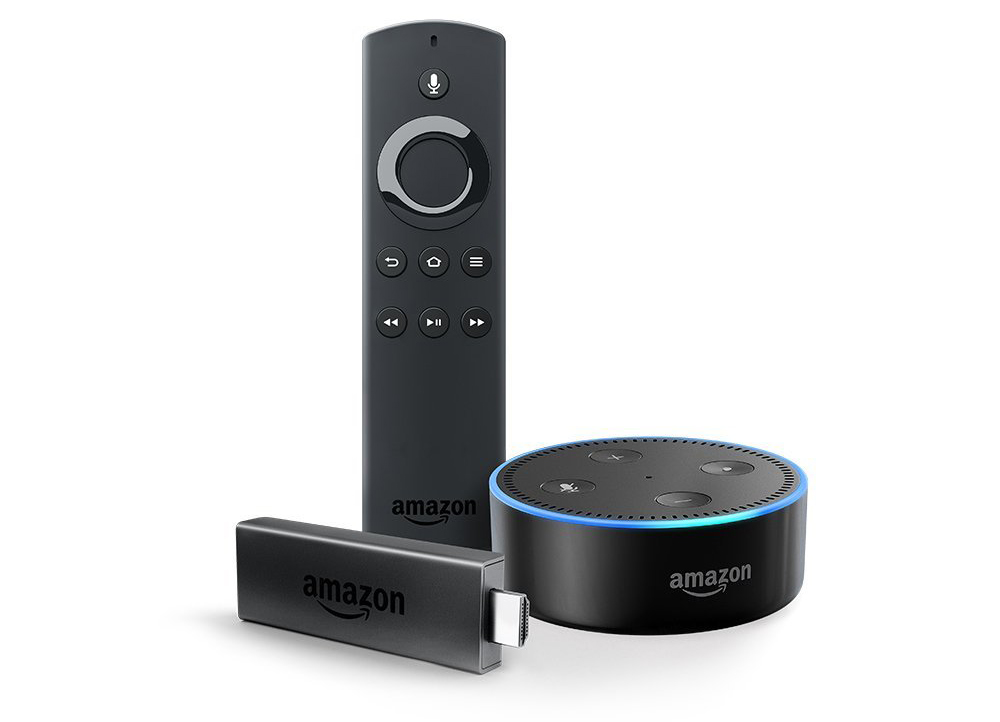 Fire TV Stick with Alexa Voice Remote + Echo Dot