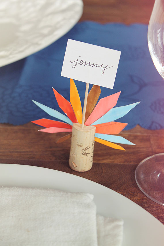 Colorful Turkey Feather Corks