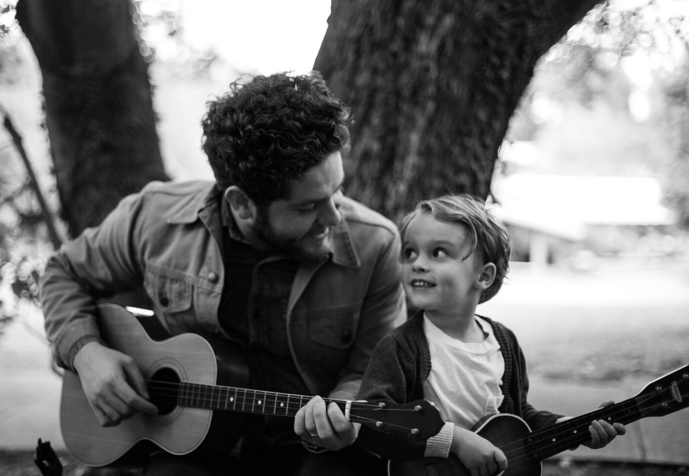 Josh Lovelace and his son Henry