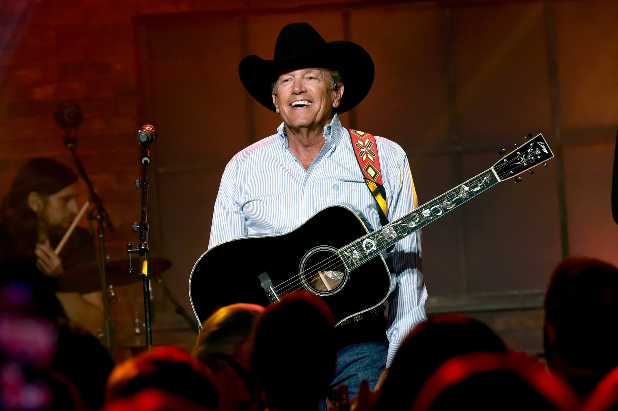 George Strait Smilig with Guitar