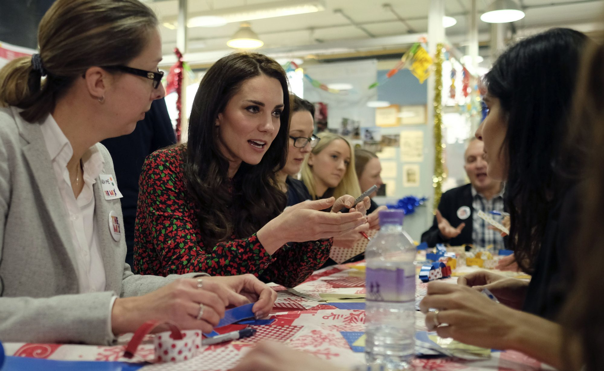 Kate Middleton Crafts with Youth
