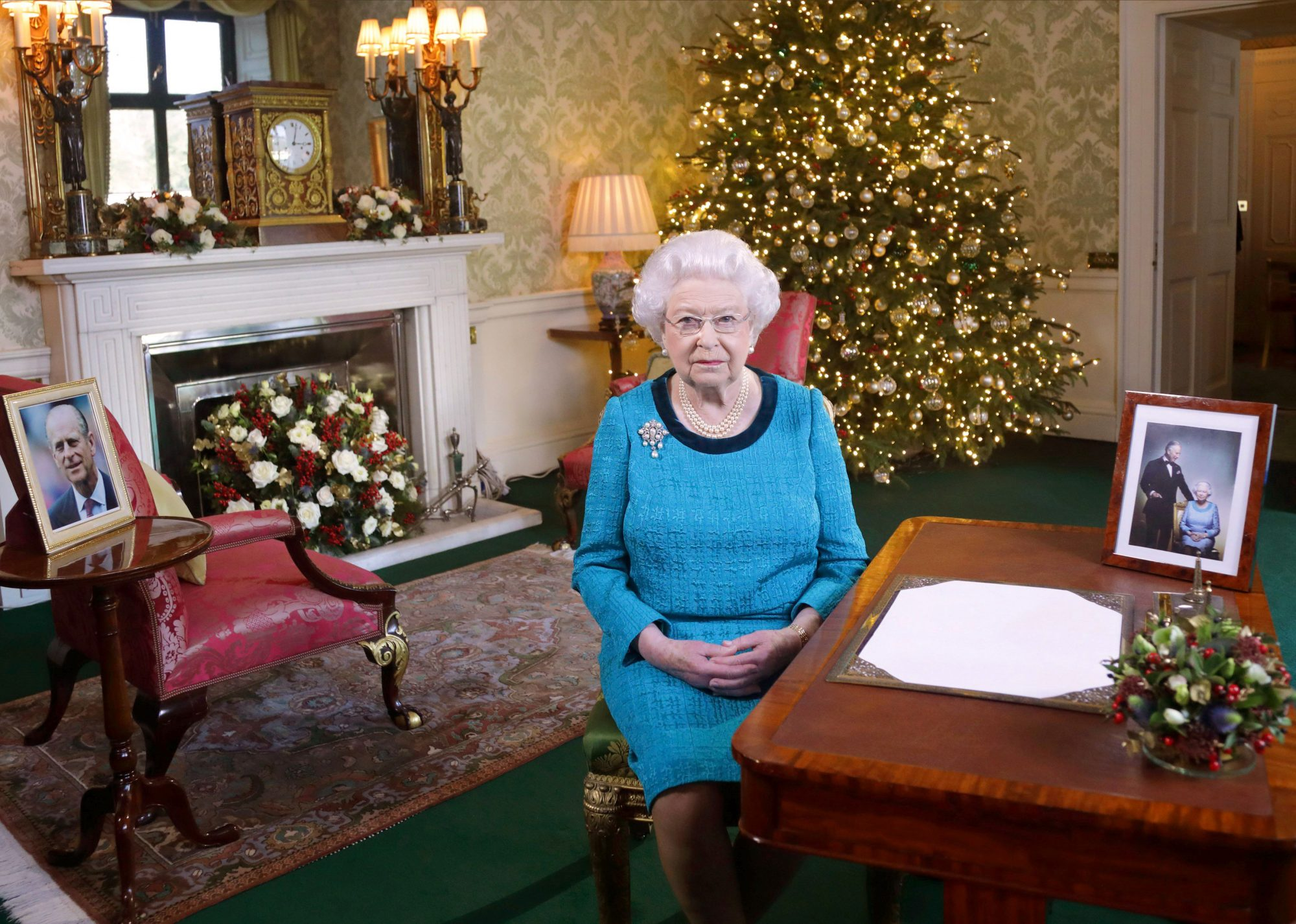 Queen Elizabeth II Enjoys Christmas 2016