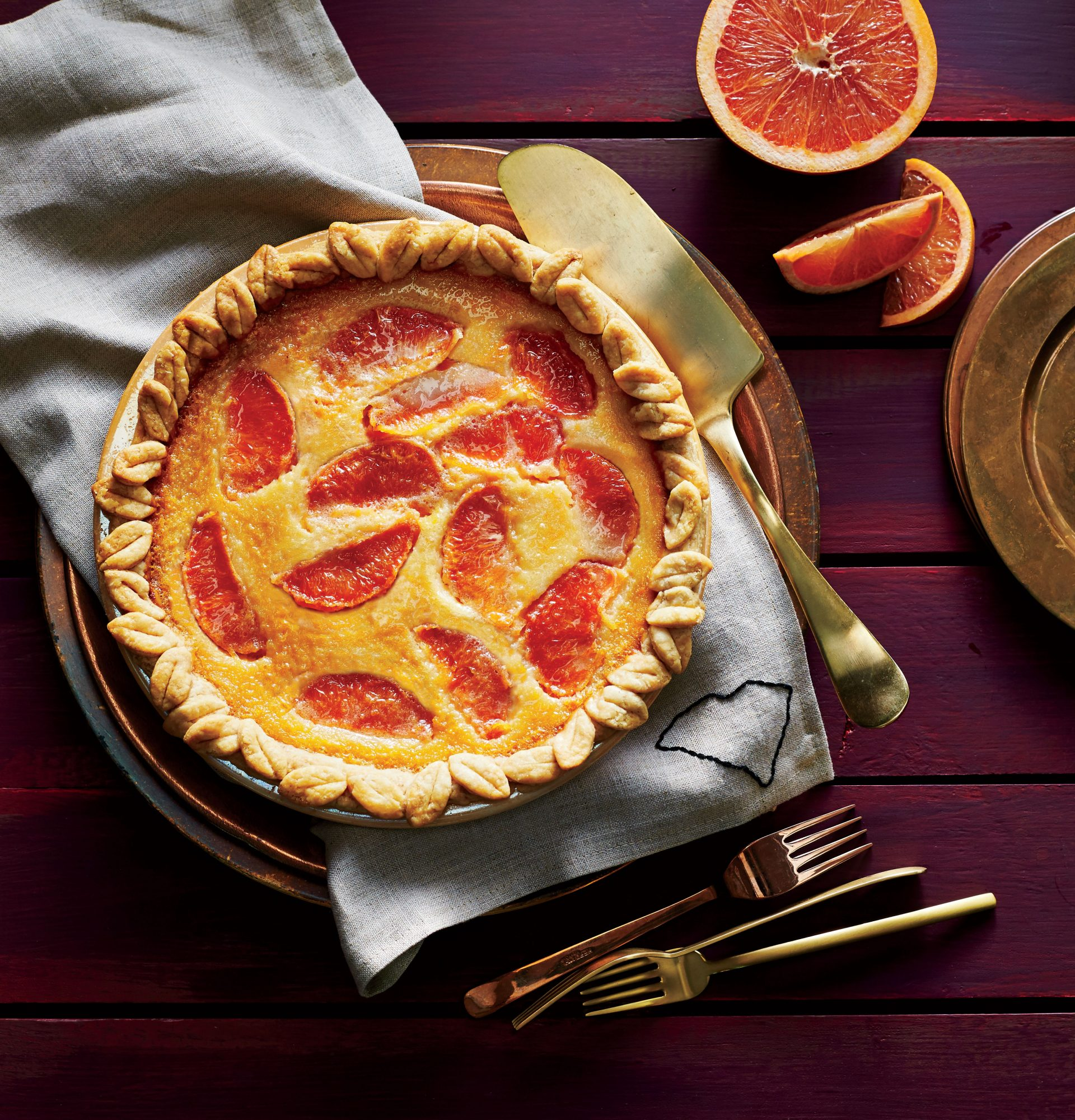 Grapefruit Chess Pie Recipe