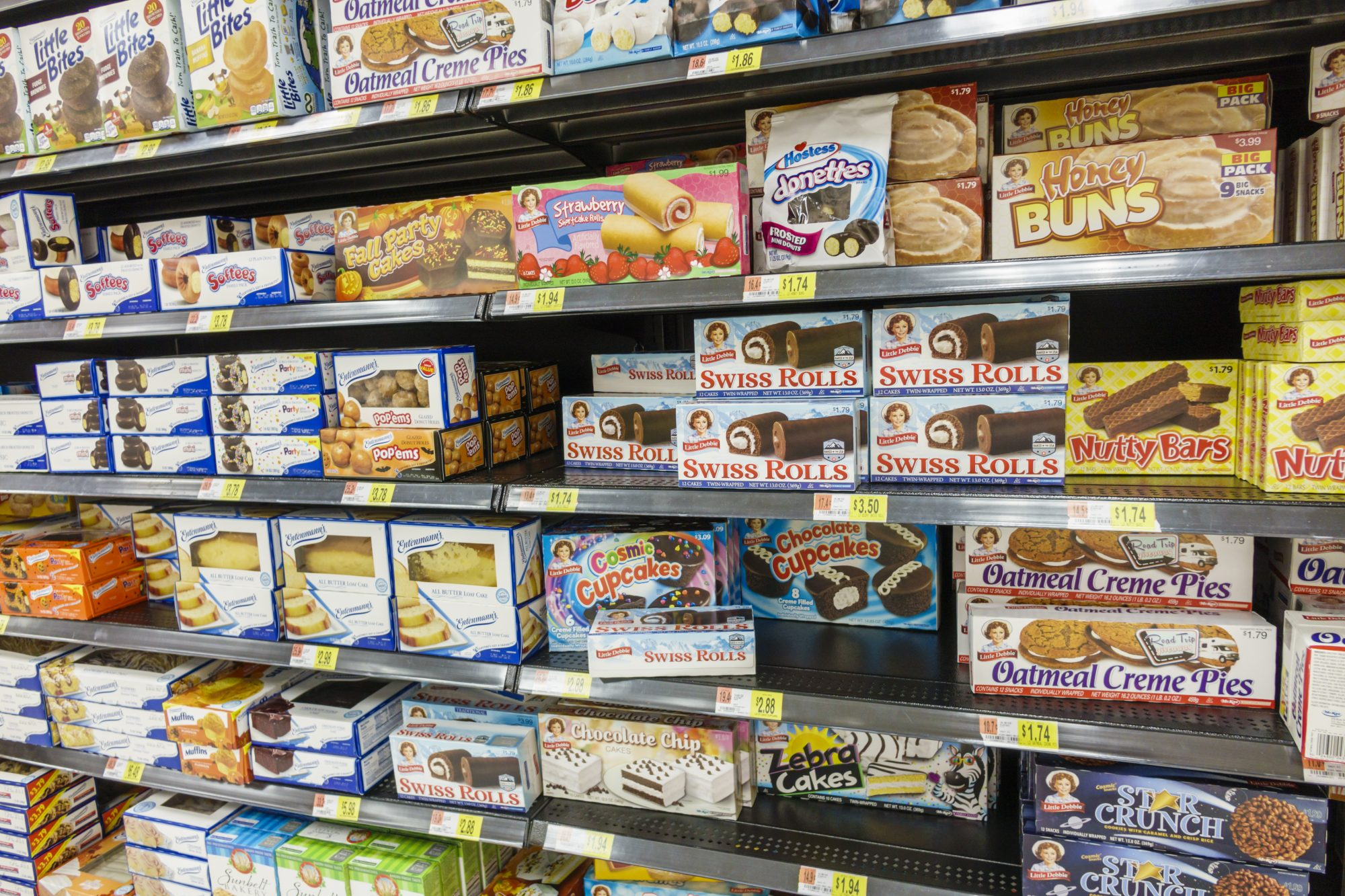 Little Debbie Snack Cakes on Grocery Shelves