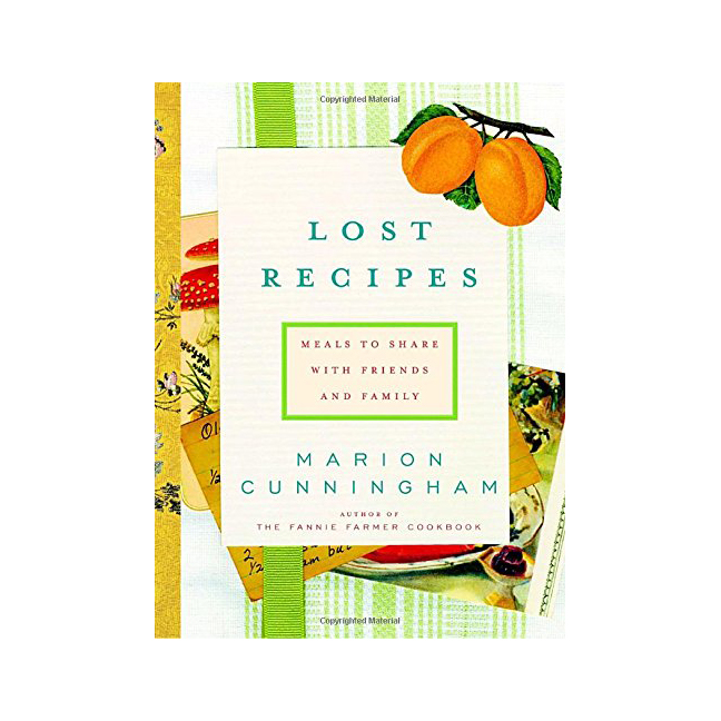 Lost Recipes Cookbook