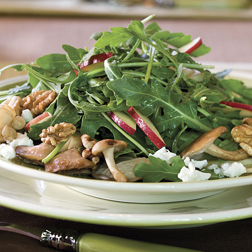 Mushroom, Apple, and Goat Cheese Salad
