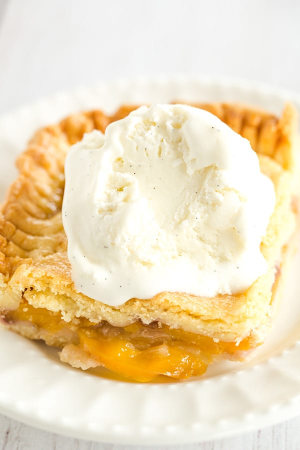 Nectarine and Honey Slab Pie