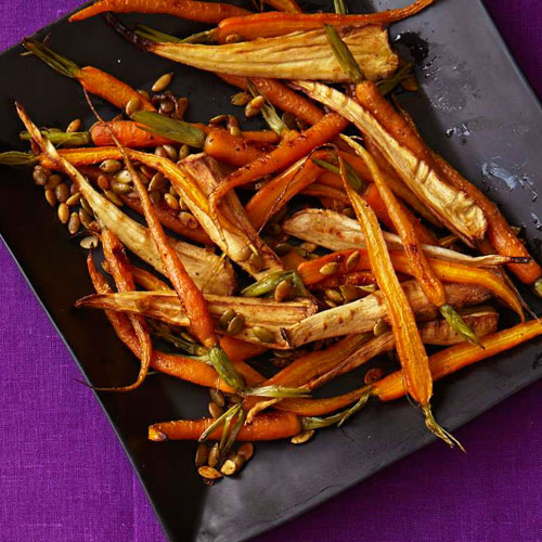 roasted spiced parsnips and carrots recipe