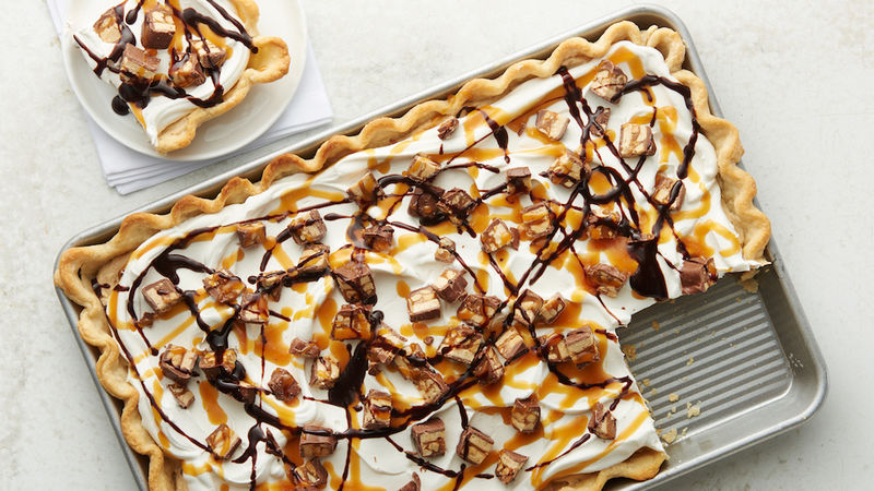Snickers Slab Pie