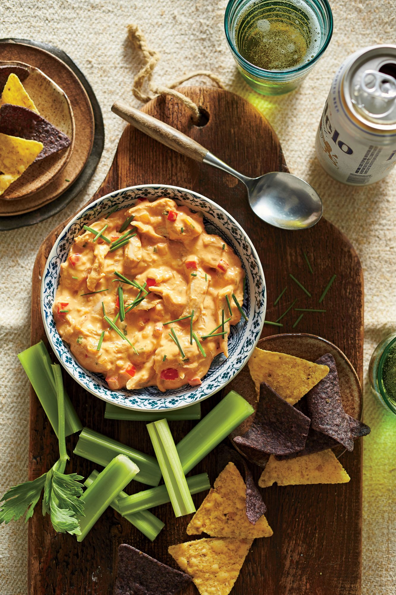 Hot-Sauce-and-Honey Chicken Dip