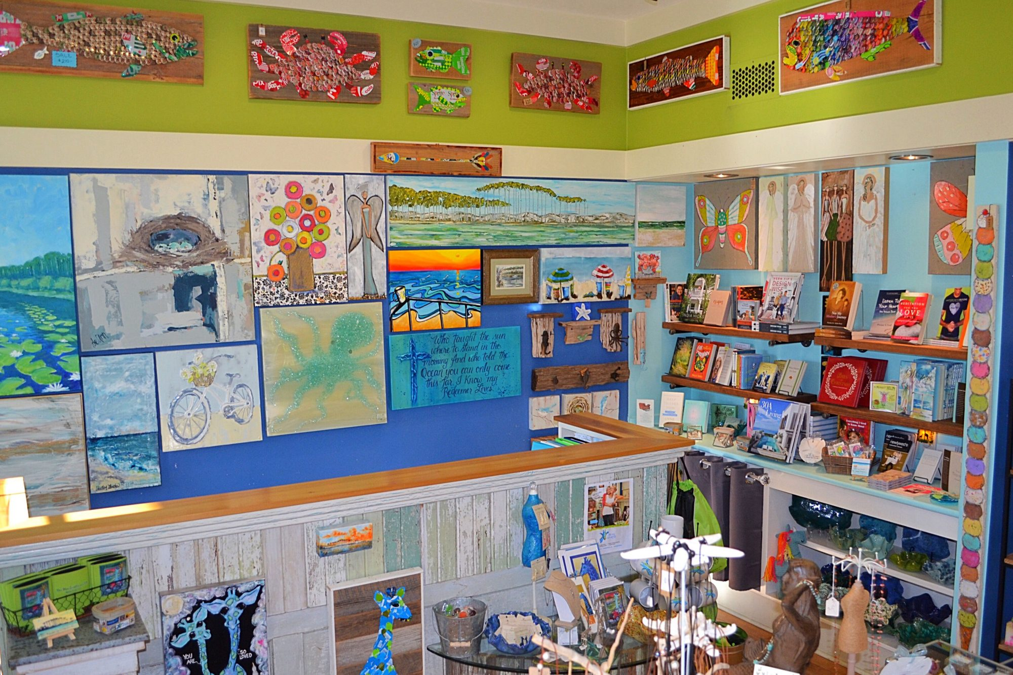 Run by a mother-daughter duo, this colorful boutique offers an assortment of coast-inspired goods, gifts, and artwork, with a cheerful, upbeat vibe that meshes perfectly with 30A's year-round cheer. If you're the do-it-yourself type, stop by for...