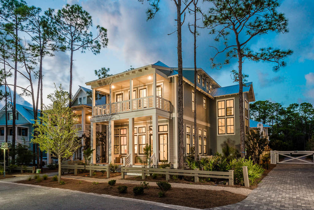 Pack the whole extended family into this spectacularly colored beach house rental, which sleeps up to 16 people across six bedrooms. This home is in WaterColor's Lake District, five to eight blocks from the beach and set among wide streets ...