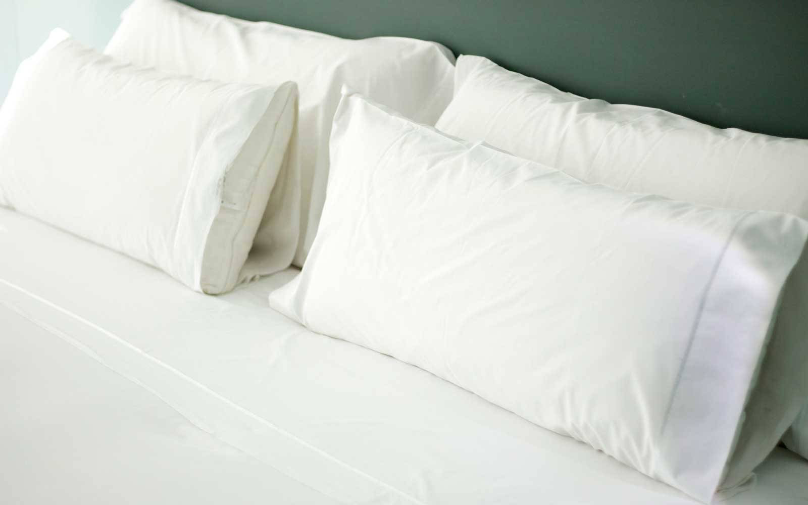White Sheets Hotel Bed