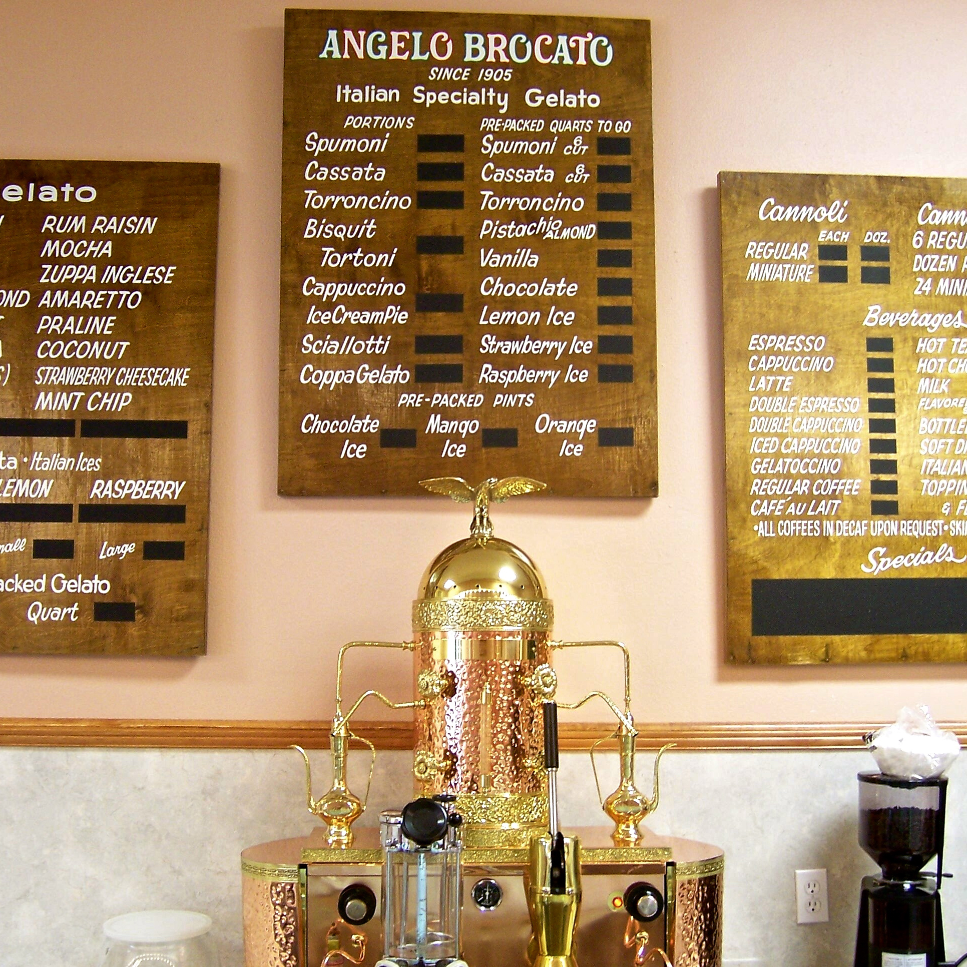 The Angelo Brocato Original Italian Ice Cream Parlor