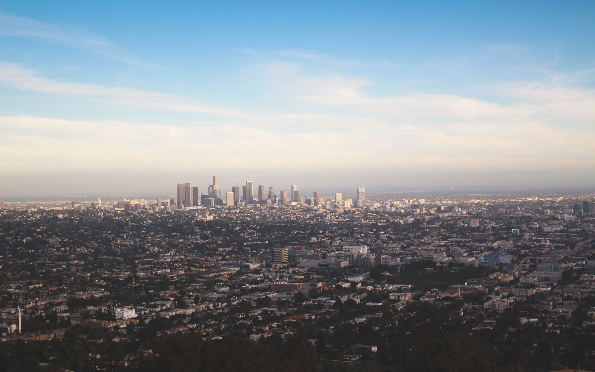 California from Griffith Observatory