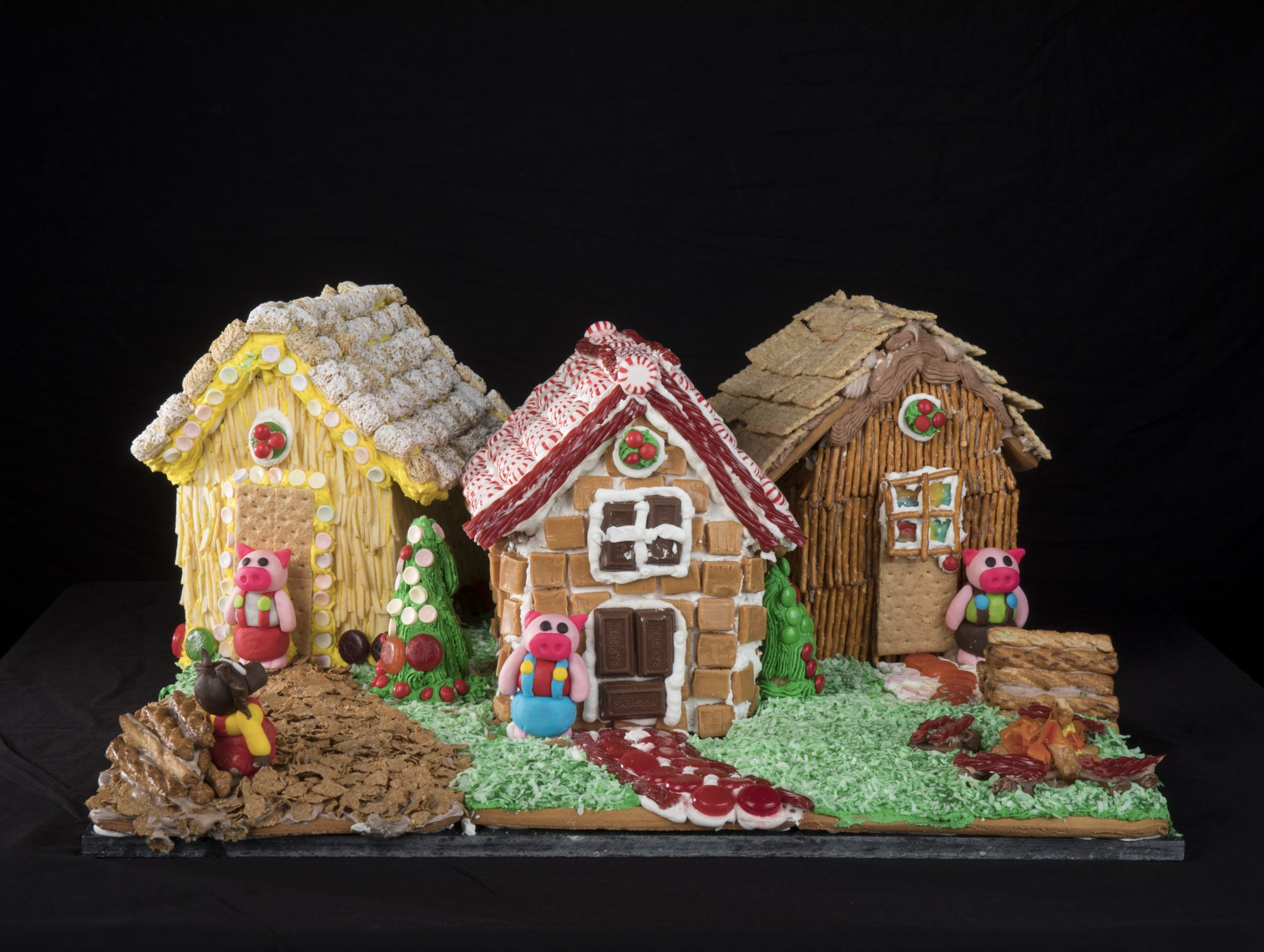 The Three Little Pigs Gingerbread House Competition