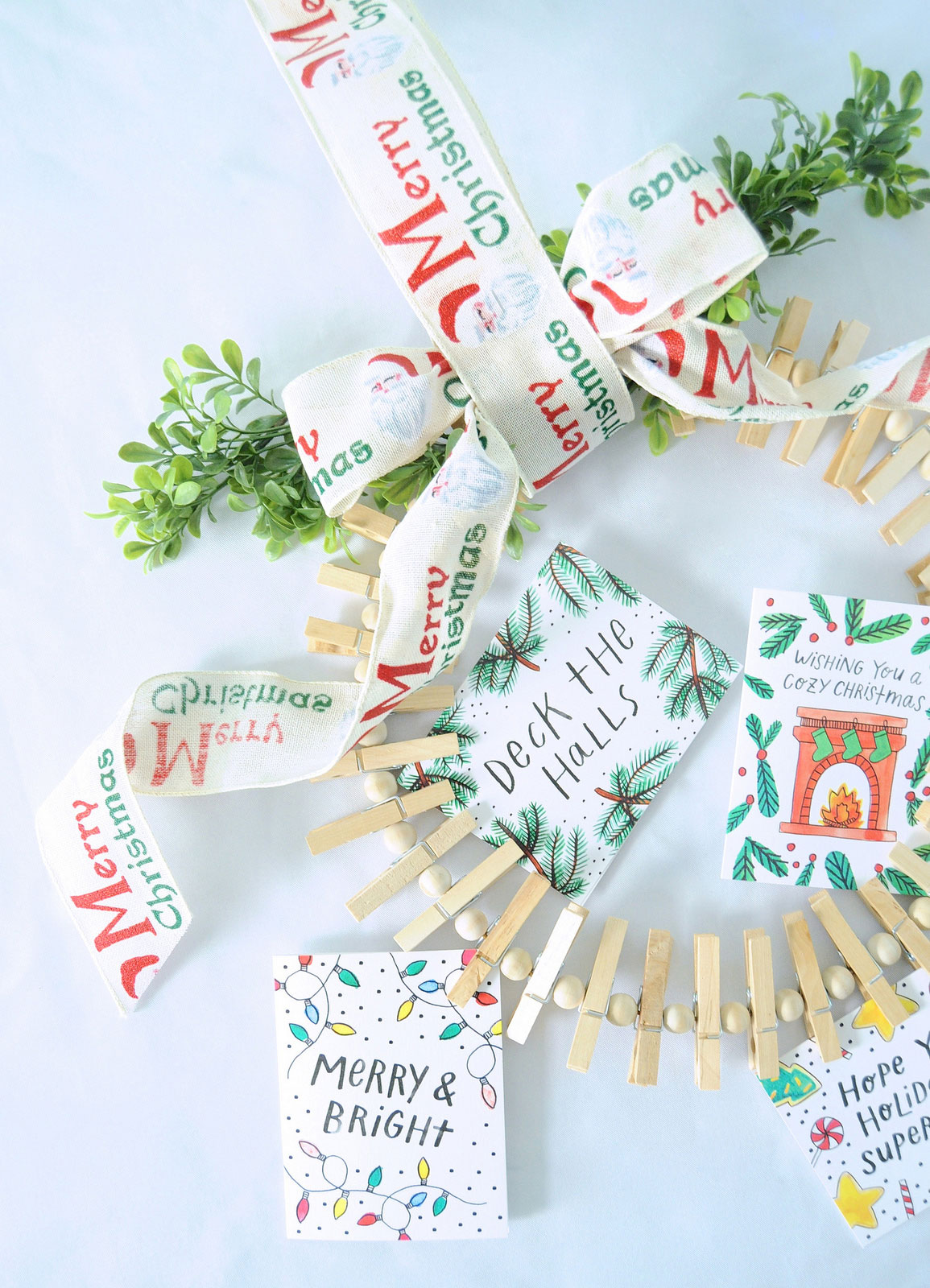 Holiday Card Wreath Holder Dollar Store