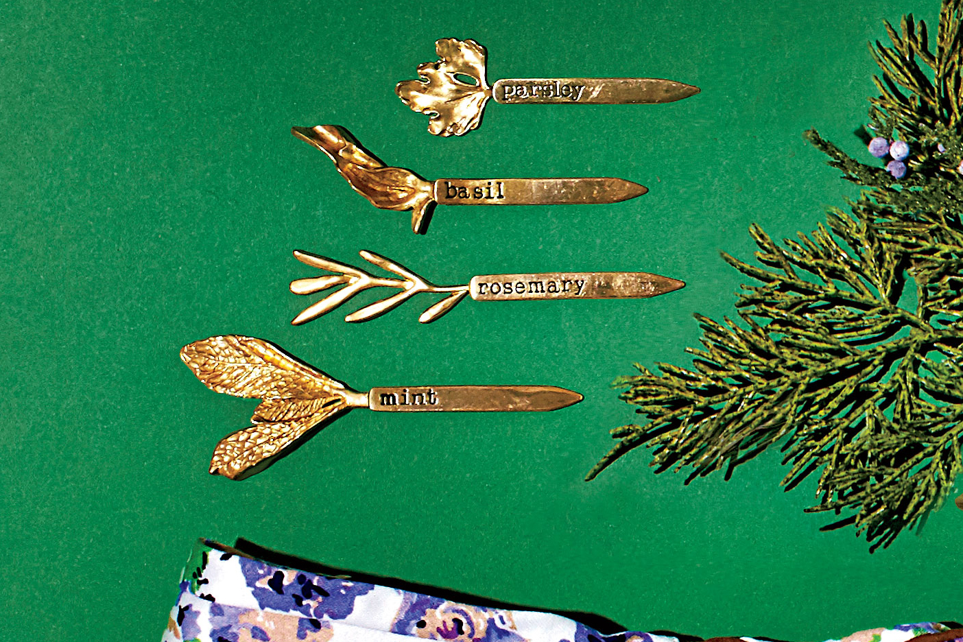 Cast Herb Plant Markers