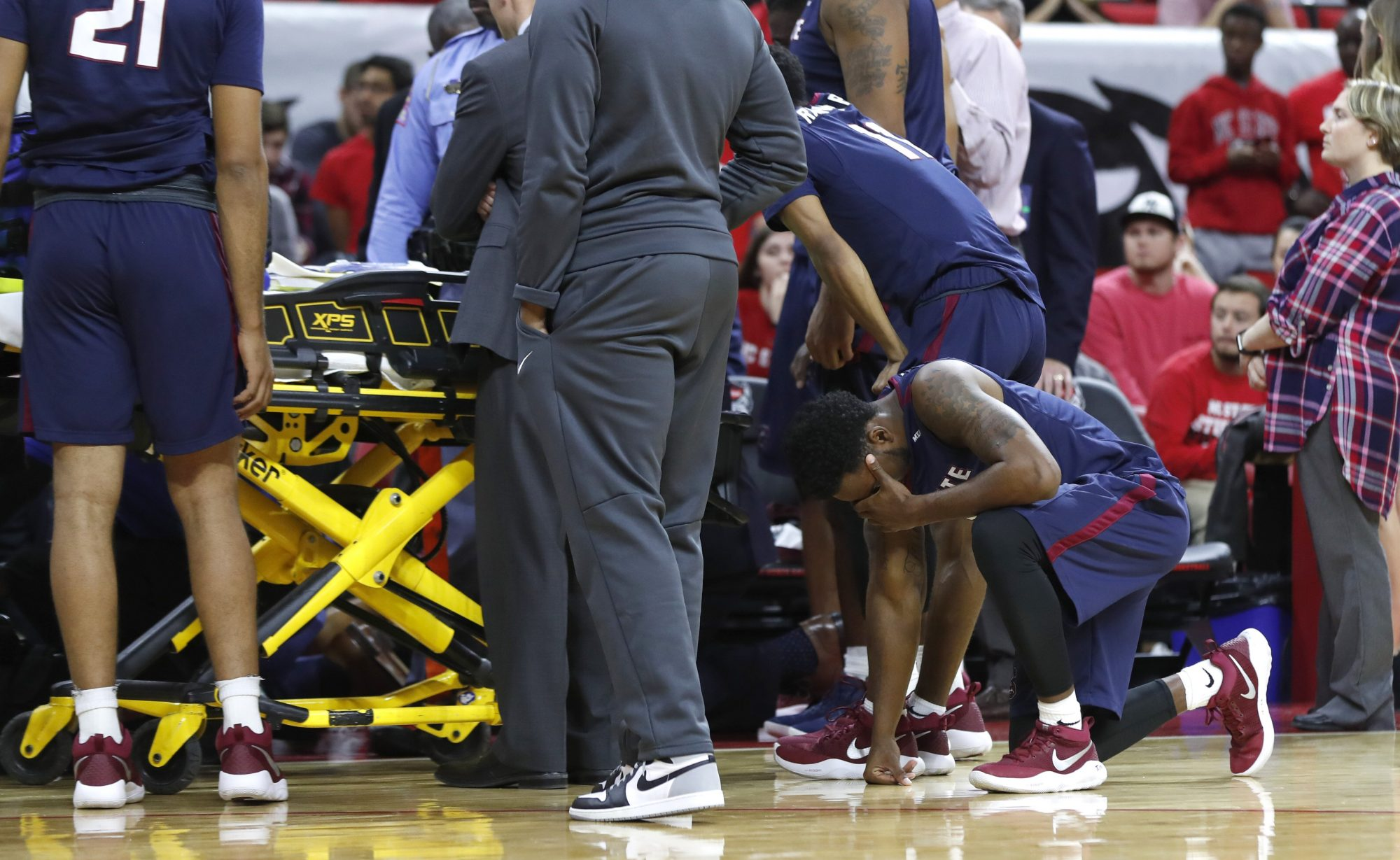 SC State Basketball Player collapses