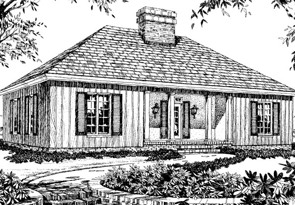 Town And Country House, Plan #115