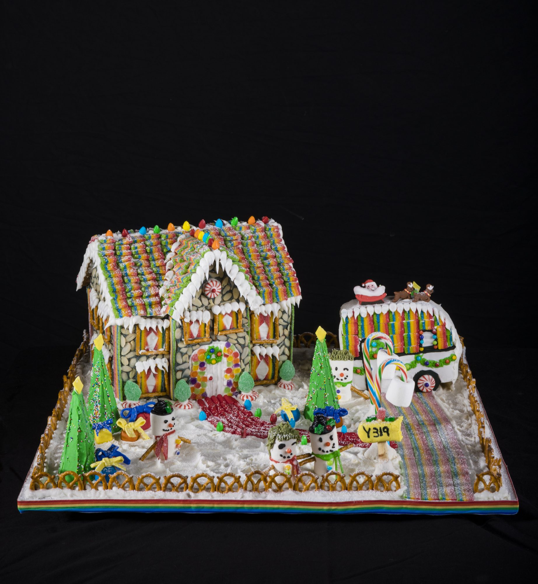 Christmas Over the Rainbow Gingerbread House Competition