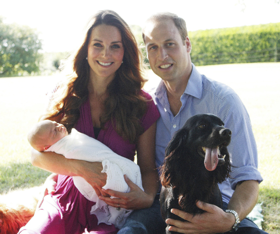 Prince George Snoozes in Mom's Arms