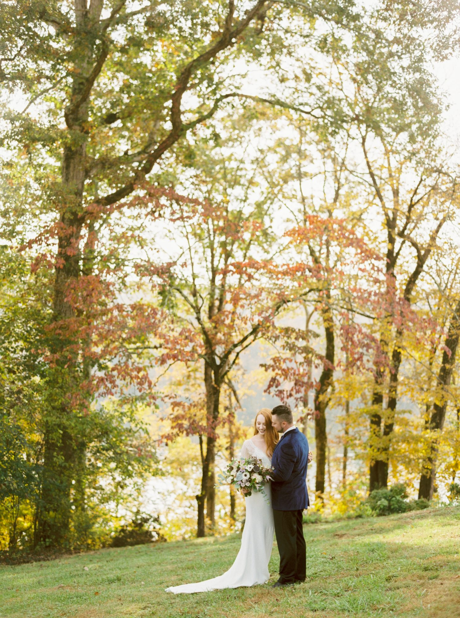Foliage-Framed Wedding Portraits