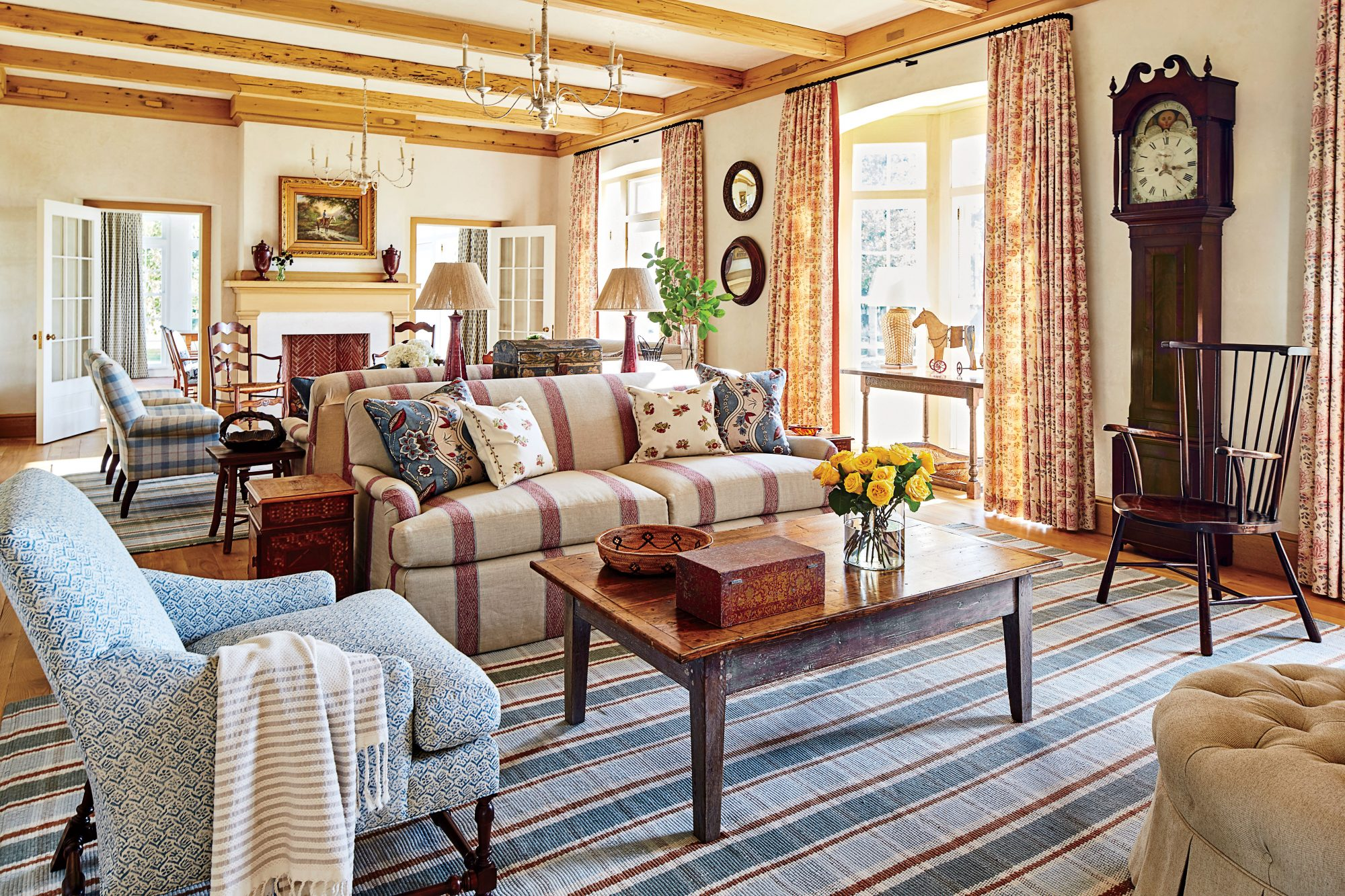 Phoebe Howard Designed Texas Hill House Living Room