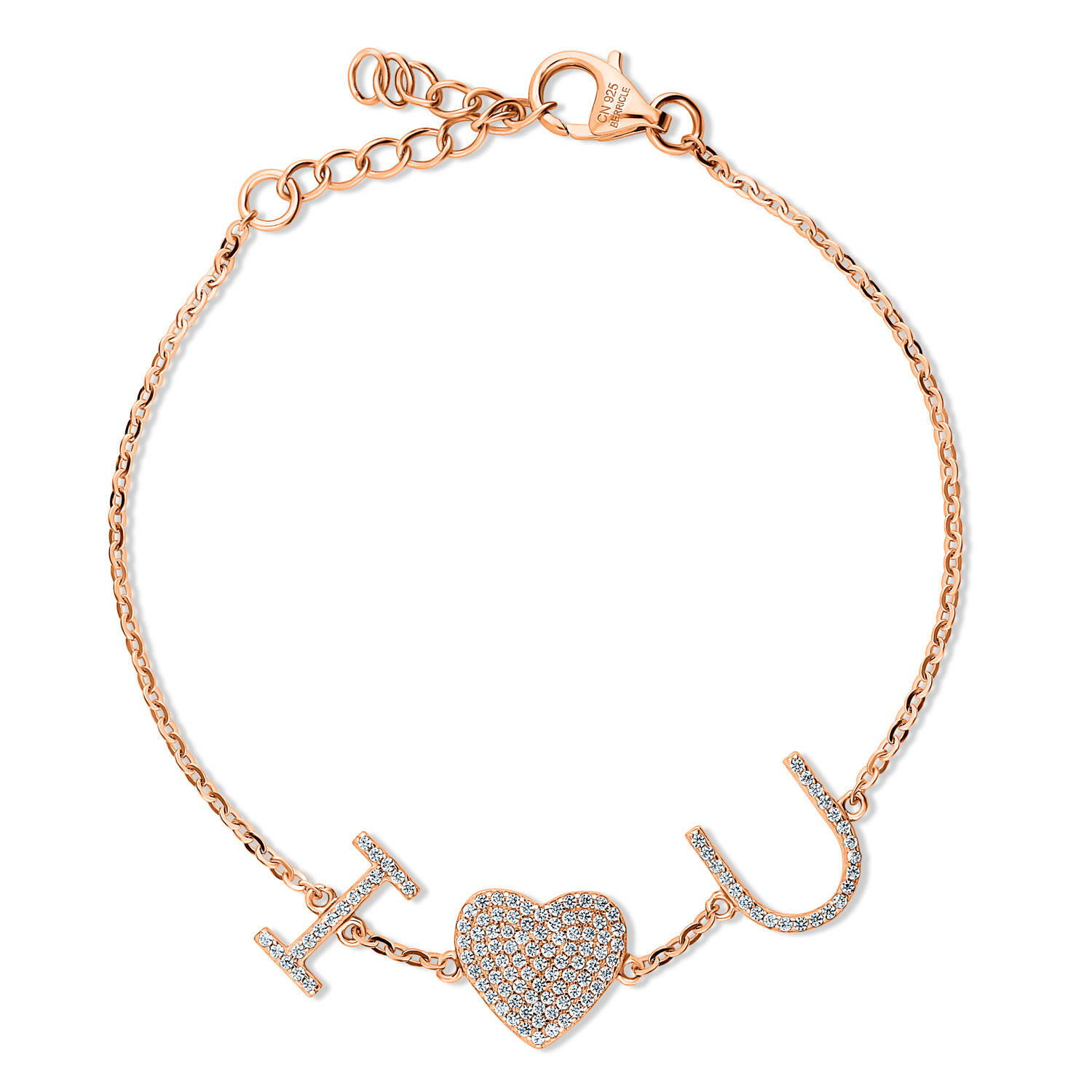 Berricle Rose Gold Heart Bracelet