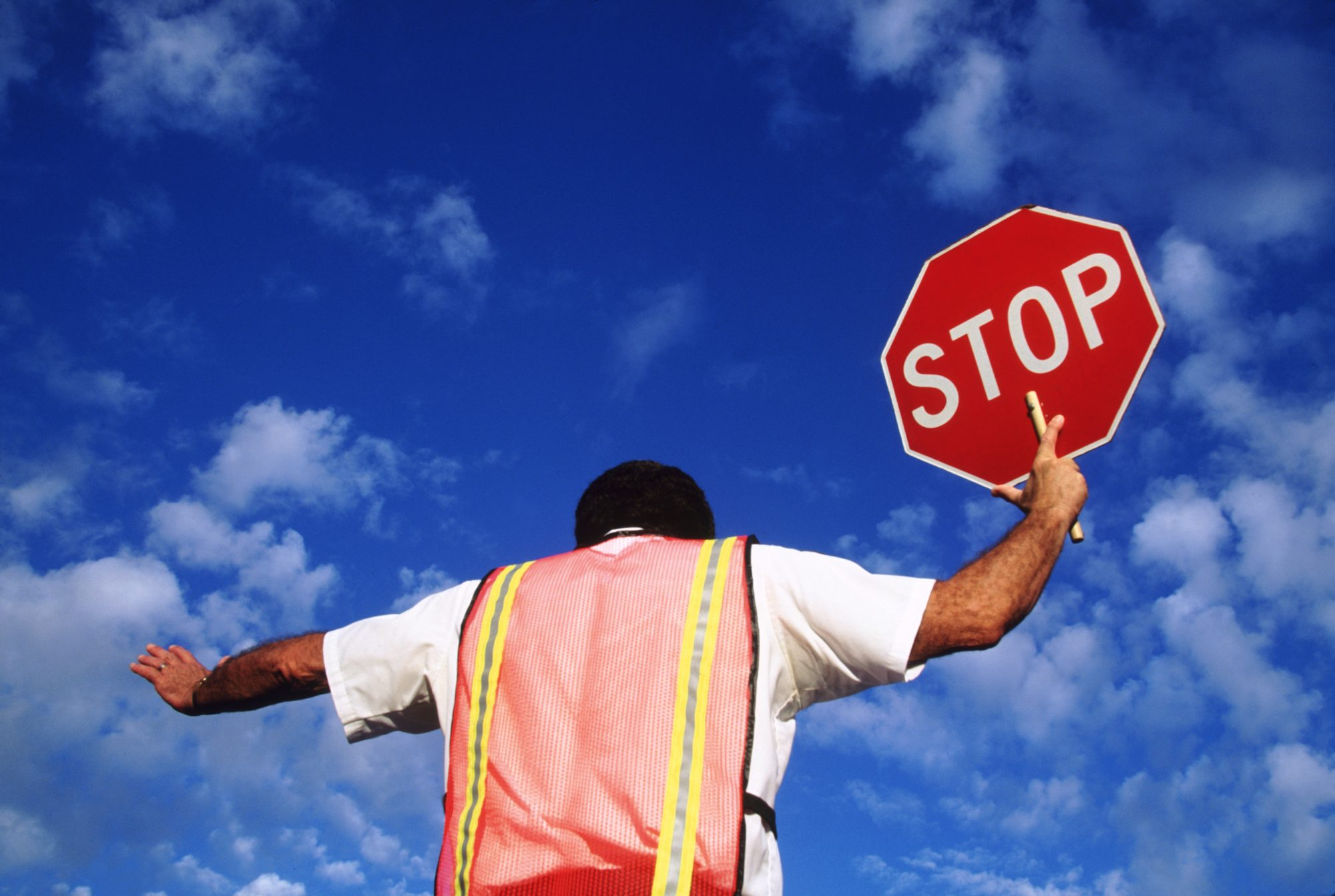 Back of Crossing Guard
