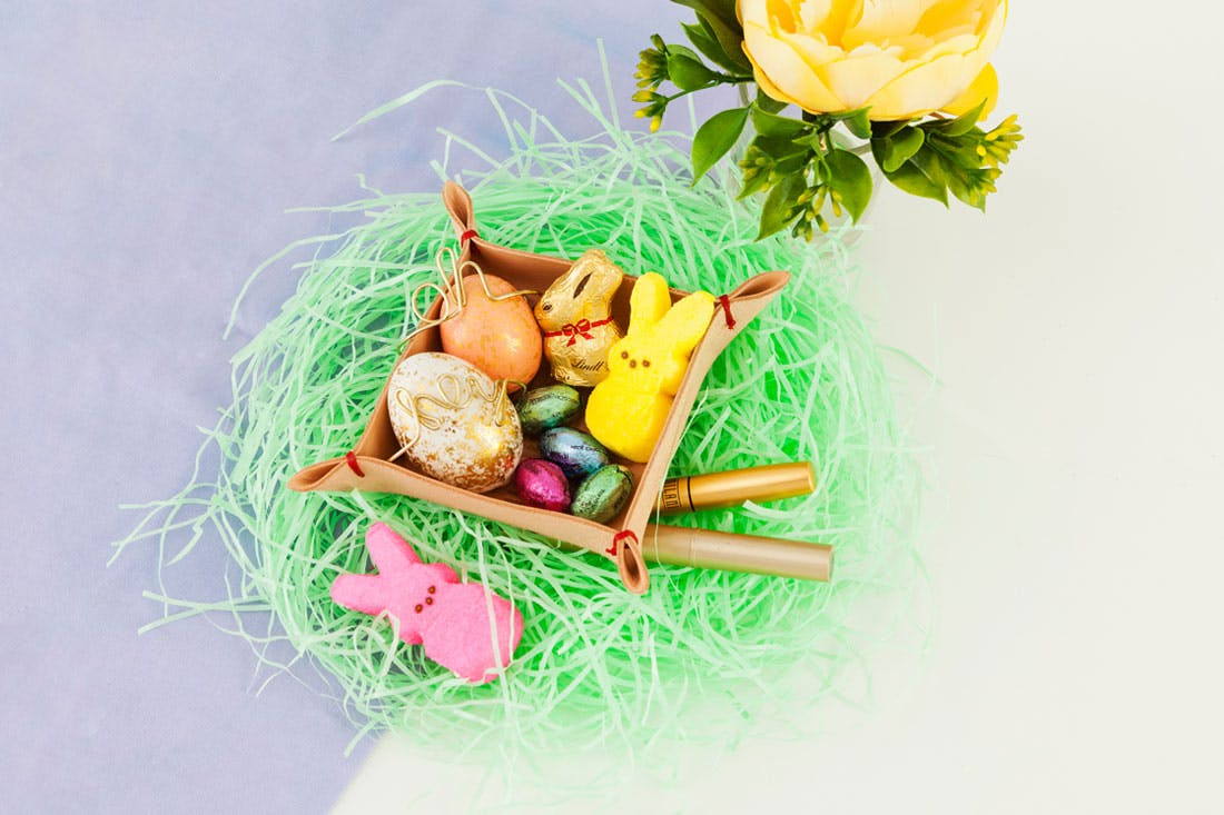 DIY Leather Tray Easter Basket